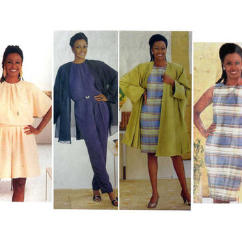"B. Smith Wardrobe Vogue 2521 Jacket, Coat, Dress, Jumpsuit Misses' Size 6, 8, 10 Bust 30.5, 31.5, 32.5"" Sewing Pattern Uncut"