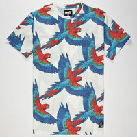 Neff Macaws Mens T-Shirt White  In Sizes