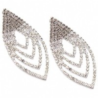 Gloria's Red Carpet Style Marquise Shape Drop Crystal Earrings - As Seen on Fashion Grail