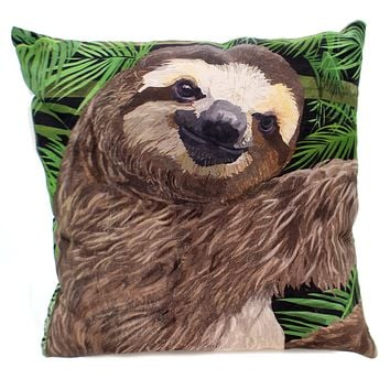 Home Decor SLOTH PILLOW Polyester Climaweave Indoor Outdoor Slslth
