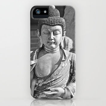 Buddha statue in black and white iPhone Case by David Cutts | Society6