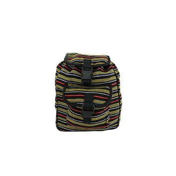 WillaRue Striped Traveler Black, Yellow and Red