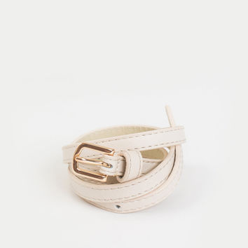 Alex Cream Skinny Belt