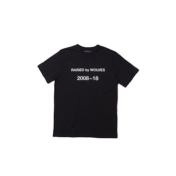 Raised By Wolves Decade Tee - Black