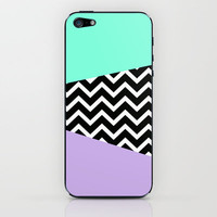 Tiffany Mint Lavender Chevron iPhone case iPhone & iPod Skin by RexLambo