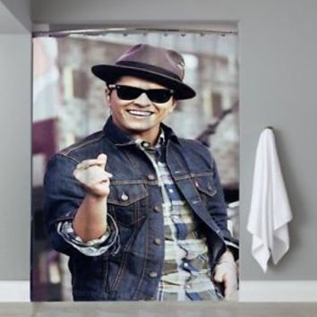 Top Famous Hot Bruno Mars New Sexy Smile Custom Shower Curtain Limited Edition