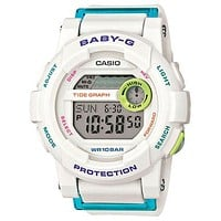 Casio Ladies Baby-G - White Resin Strap - World Time Chronograph - 200 Meters