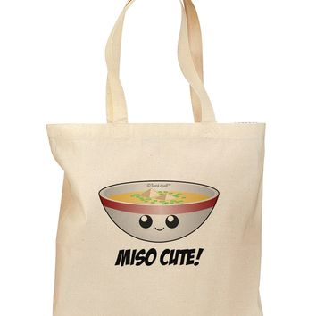 Miso Cute - Cute Miso Soup Bowl Grocery Tote Bag by TooLoud