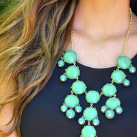 Join The Crew Necklace: Green/Gold | Hope's