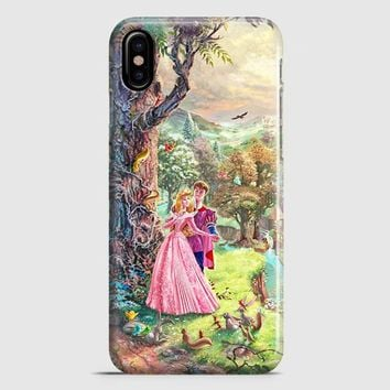 Sleeping Beauty Walt Disney Art Painting iPhone X Case