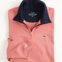 Vineyard Vines Jersey 1/4 Zip - Rhubarb