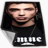 andy biersack Blanket for Kids Blanket, Fleece Blanket Cute and Awesome Blanket for your bedding, Blanket fleece **