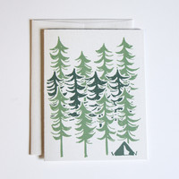 Forest Camping - Greeting Cards - Blank Stationary
