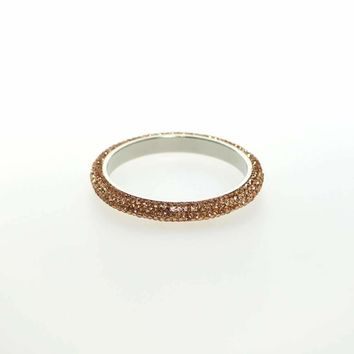 Izoa Peach Five Row Crystal Bangle