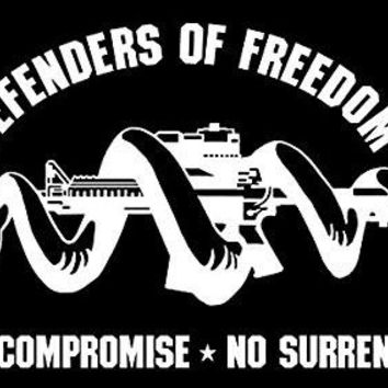 Molon Labe Defenders Of Freedom  Vinyl Car/Laptop/Window/Wall Decal
