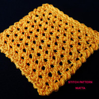 Honeycomb Crochet Stitch Tutorial Beginner Phone-iPad case Instant Download PDF Pattern Niatta