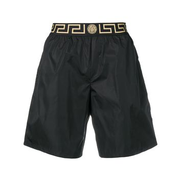 Greek Key Long Swim Shorts by Versace
