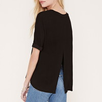 Textured Slit-Back Top