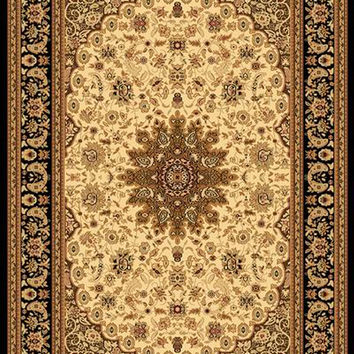 Dynamic Rugs Yazd Cream-Black Classic Rectangle Area Rug