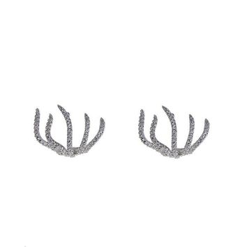 Pave Claw Earrings
