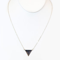 Silver Trigon Necklace - Necklace