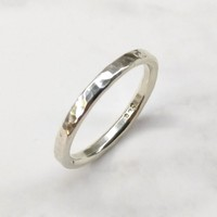 Hammered Patterned Thumb Ring For Him and Her