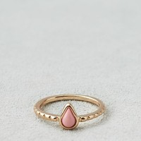 AEO Women's Pink Pear Ring (Gold)
