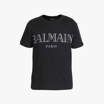 Cotton T Shirt With Balmain Logo for Unisex - Balmain.com