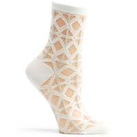 Sheer Lattice Sock