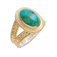 Women's Anna Beck Oval Stone Split Ring - Gold/