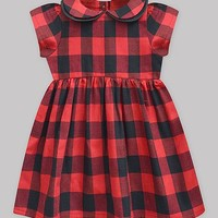 Crimson Gingham Angela Dress - Infant