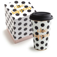 """Ladies Choice"" Commuter Travel Mug - ""Chic Happens"""