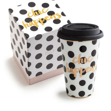 Ladies Choice Commuter Mug Chic Happens {8oz}