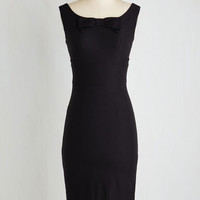 Pinup Long Sleeveless Sheath Timeless is of the Essence Dress by Stop Staring! from ModCloth