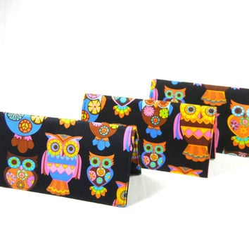 Checkbook Cover Sugar Skull Owls