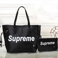 LV x Supreme  Women Shopping Bag Leather Tote Handbag Shoulder Bag