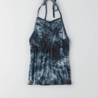 AEO FIRST ESSENTIAL HI-NECK HALTER TOP