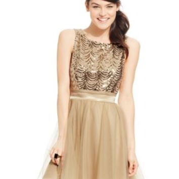 Trixxi Juniors' Sequin Retro Party Dress | macys.com