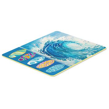 Surf Boards and Wave Kitchen or Bath Mat 24x36 BB8528JCMT