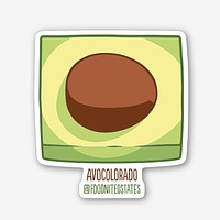 Avocolorado Fridge Magnet