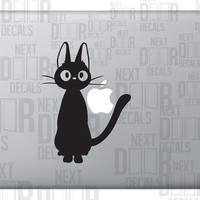 Black Cat Anime Apple Macbook Laptop Sticker Decal