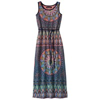 Three Pink Hearts Tribal Maxi Dress - Girls