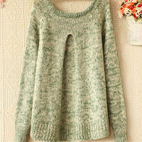 A 082904 s Retro Suit Round Neck Pullover Sweater