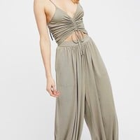 Free People Weekend Chill Out Jumper - Olive