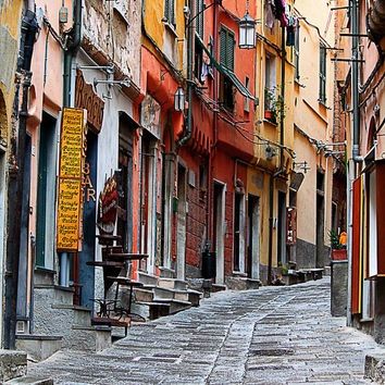 Streets of Italy - Italian Alley Photo - travel photography, Italy, cityscape photography