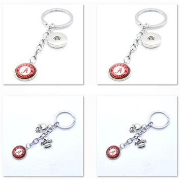 2017 New Football Keychain NCAA Alabama Crimson Tides Charm Key Chain Car Keyring for Women Men Party Birthday Keyrings Gifts