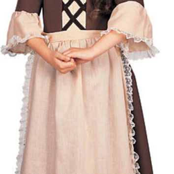 Girl's Costume: Colonial Girl | Large