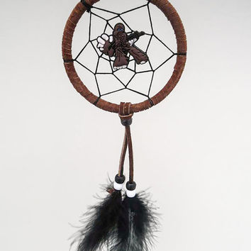 Star Wars Chewbacca dreamcatcher- small, brown dreamcatcher