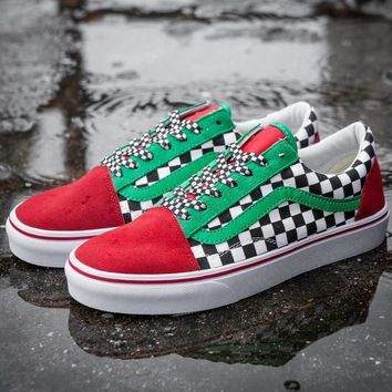 Trendsetter VANS Canvas Old Skool Checkerboard Flats Shoes Sneakers Sport Shoes