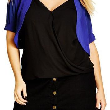 Sheer Chiffon Shrug (Plus Size)